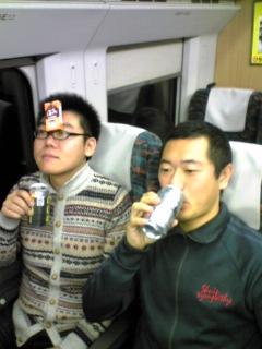一ノ関からの帰りの新幹線。