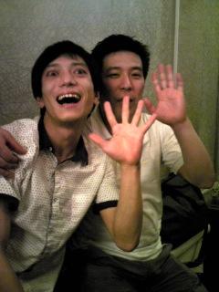 ジョニーと鳳笑くん。