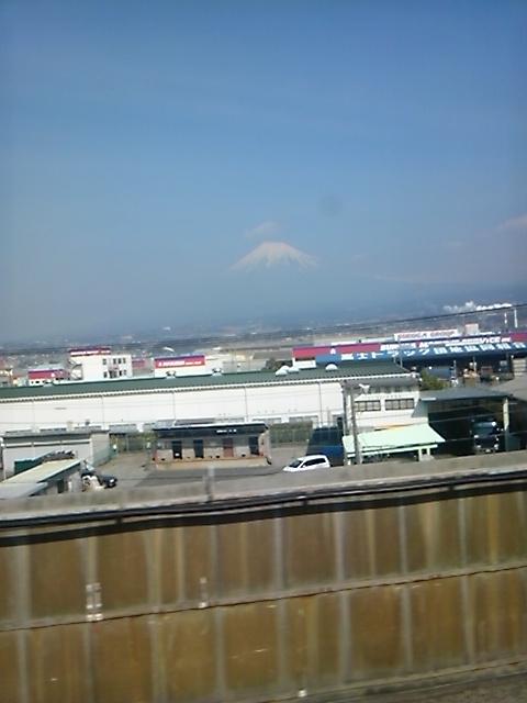 富士山を見て。